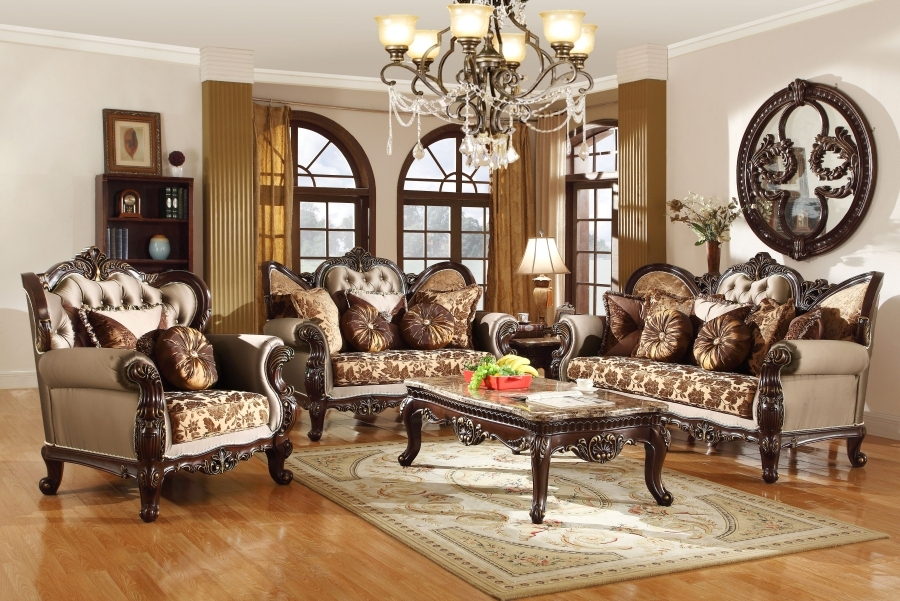 Antique Style Wing Back Sofa & Love Seat French Provincial Pertaining To Old Fashioned Sofas (View 15 of 15)