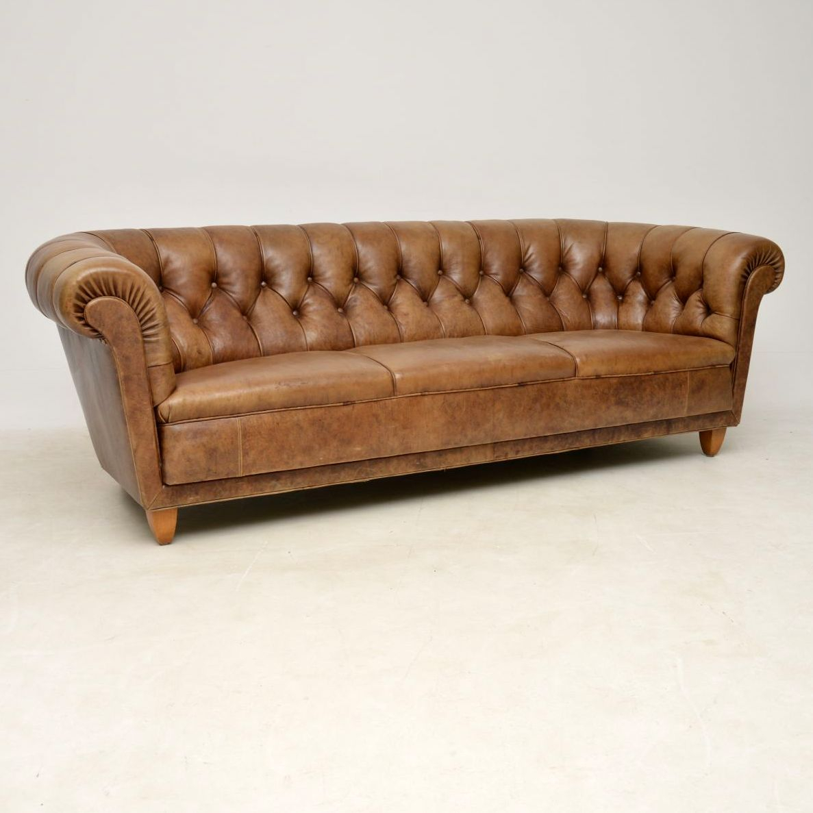 Antique Swedish Leather Chesterfield Sofa – Marylebone For Leather Chesterfield Sofas (View 2 of 15)