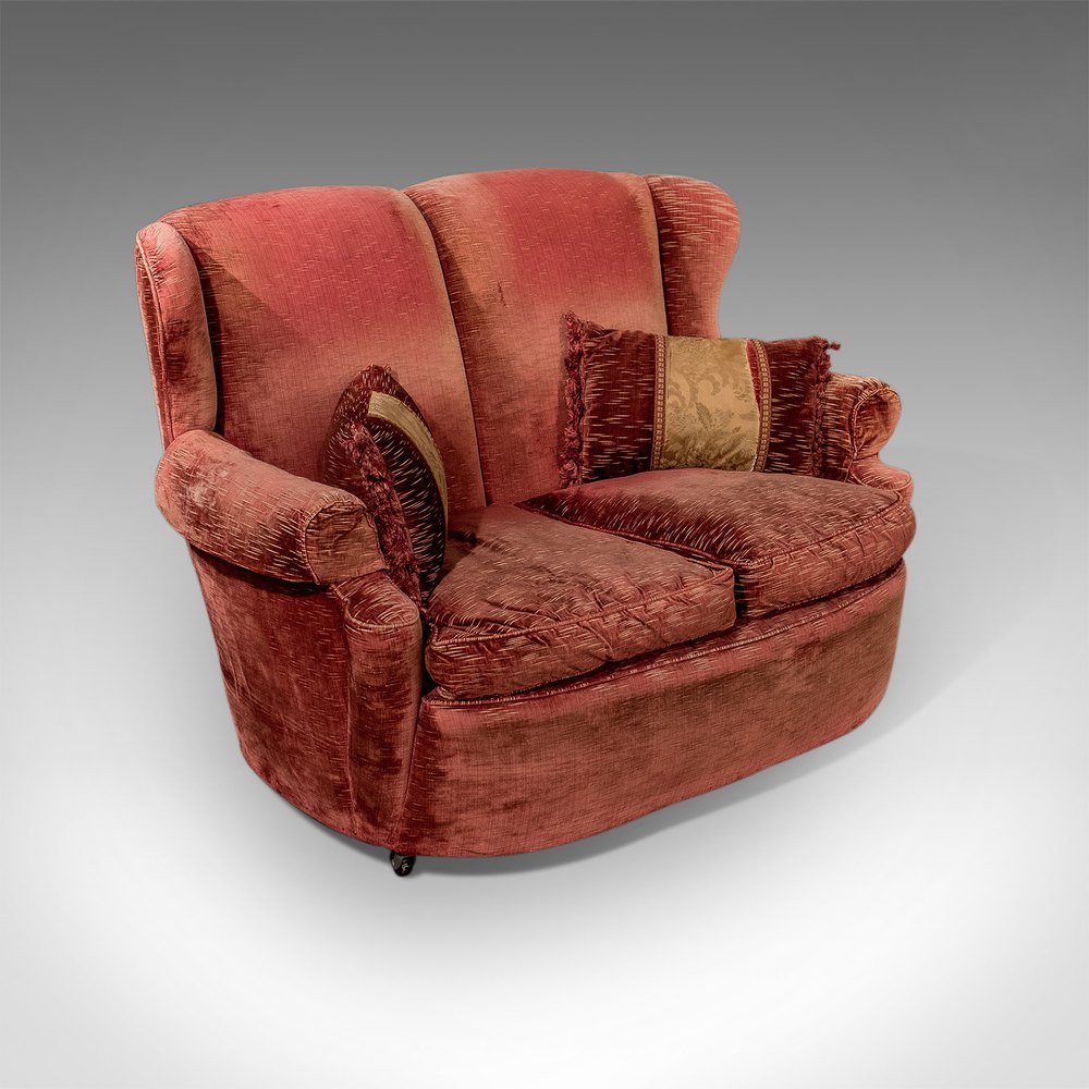 Antique Vintage Art Deco Small 2 Seat Sofa Settee With Retro Sofas And Chairs (View 15 of 15)