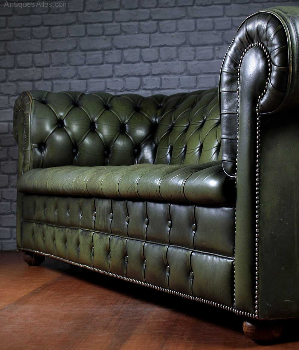 Antiques Atlas – Vintage Leather Chesterfield Sofa (View 15 of 15)