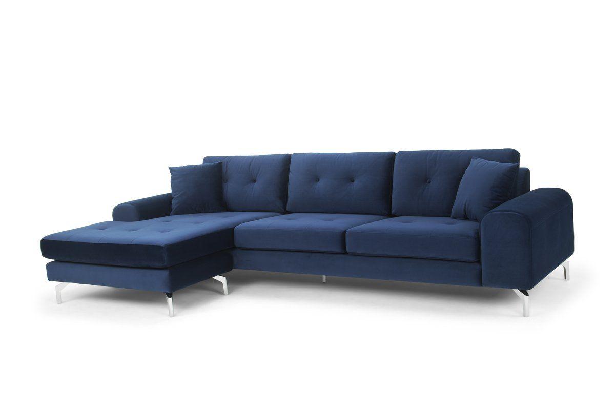 Aparicio Reversible Sectional | Allmodern | Sectional Sofa For Clifton Reversible Sectional Sofas With Pillows (View 9 of 15)