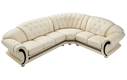 Apolo Traditional Leather Right Hand Facing Sectional Sofa Throughout Artisan Beige Sofas (View 13 of 15)