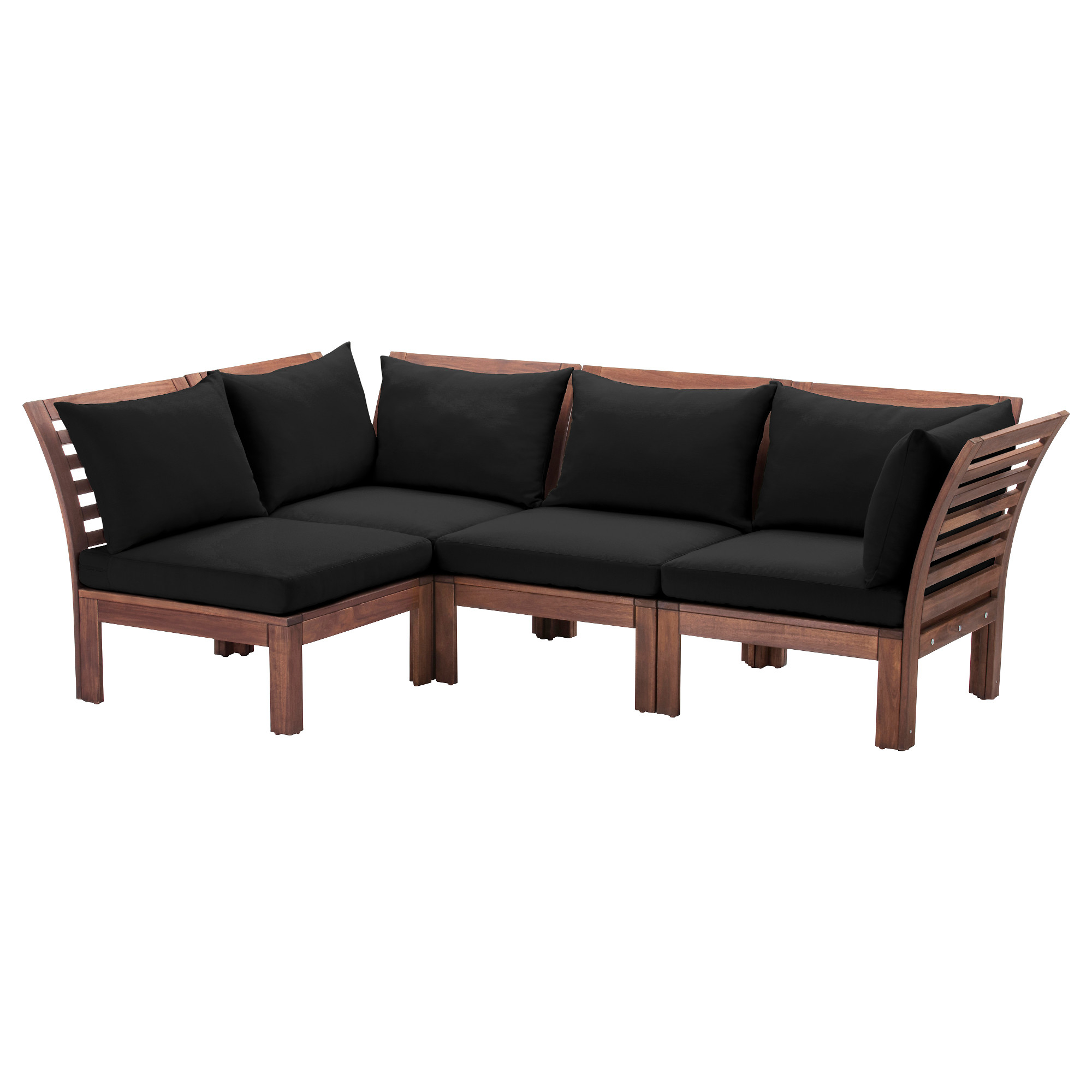 Äpplarö – Modular Corner Sofa 3 Seat, Outdoor, Brown Intended For Modular Corner Sofas (View 1 of 15)