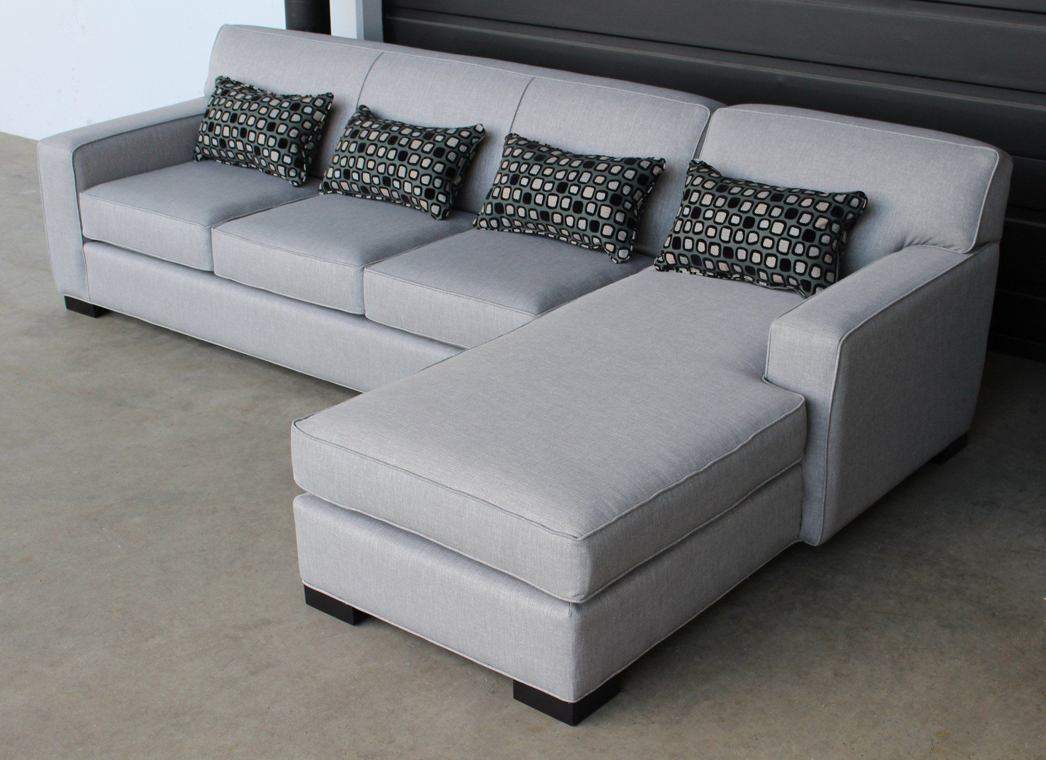 Arsenio Custom Sofa Chaise Sectional – Made In Canada In Within Custom Made Sectional Sofas (View 5 of 15)