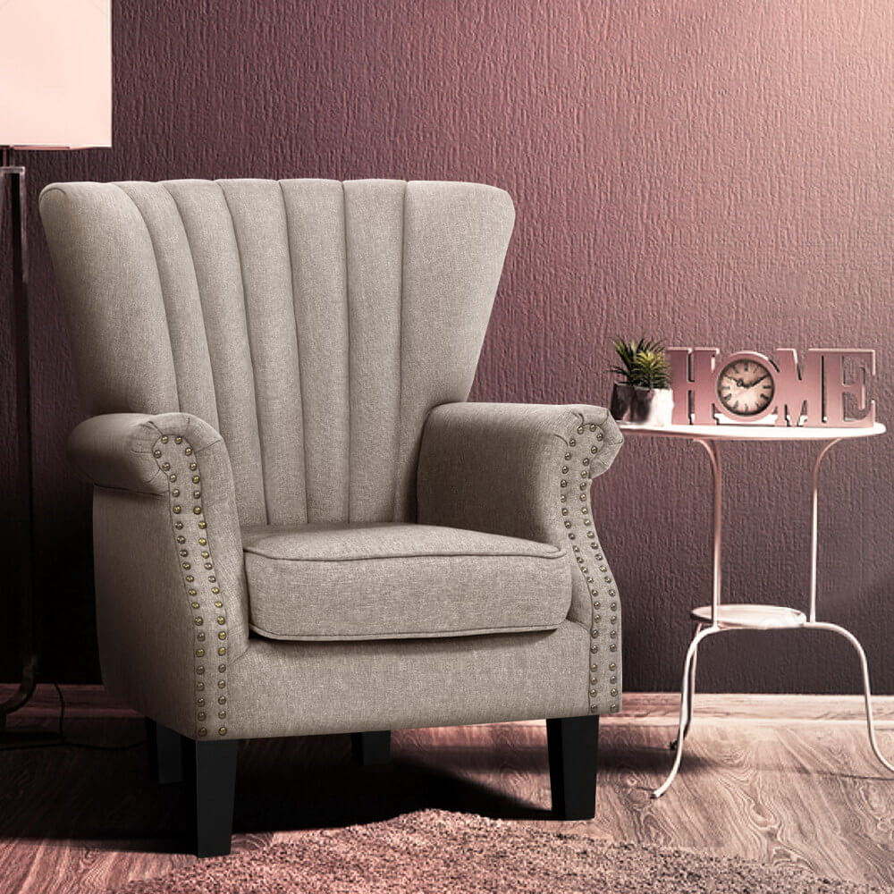 Artiss Armchair Lounge Chair Accent Chairs Armchairs Throughout Sofa Lounge Chairs (View 4 of 15)