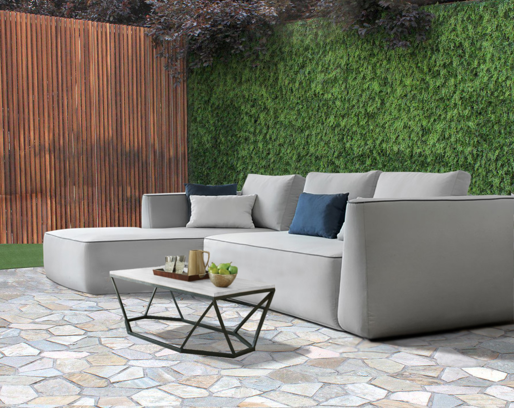 Aruba Bespoke Modular Outdoor Small Chaise Sofa   Hadley Rose In Outdoor Sofa Chairs (View 12 of 15)