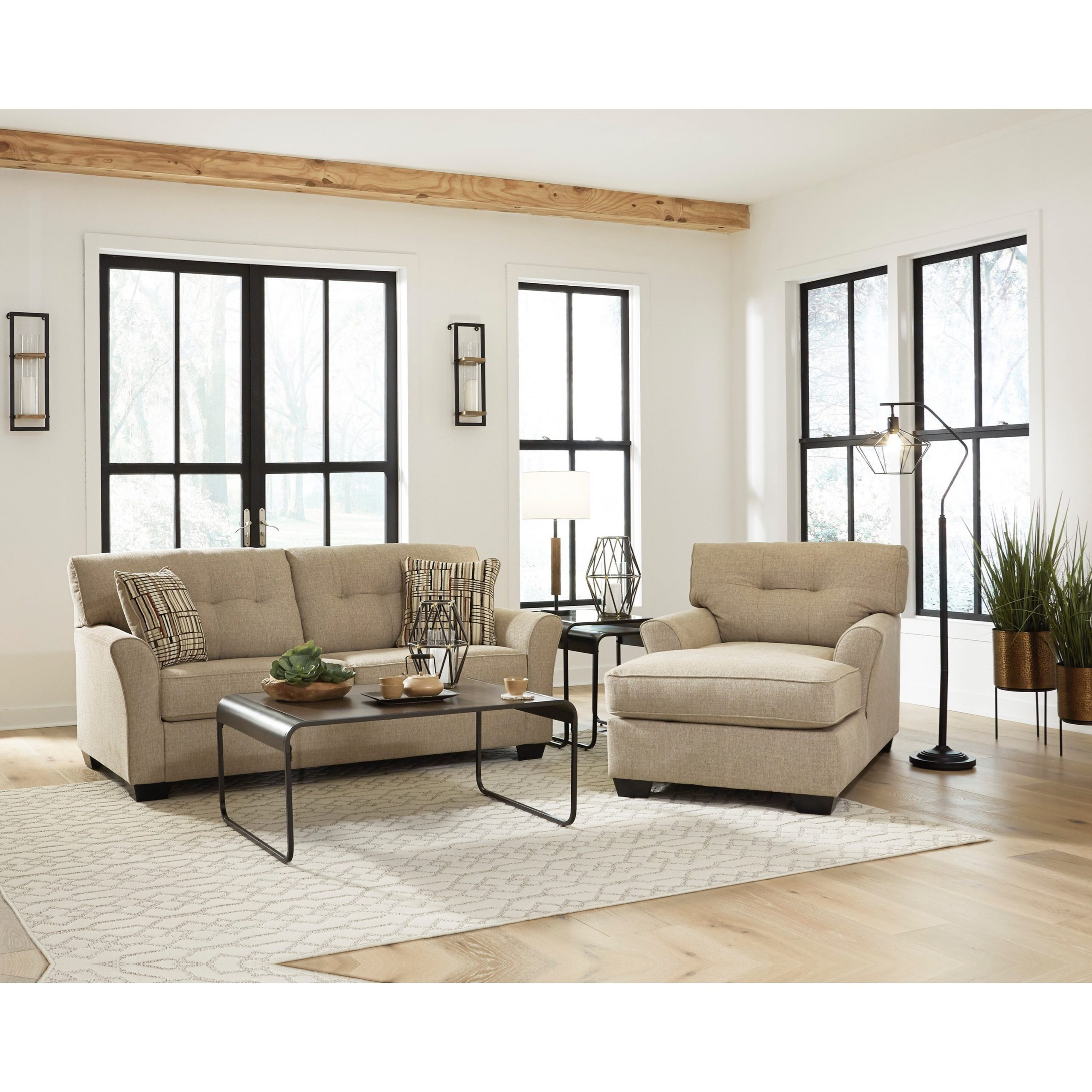 Ashley Ardmead Casual Sofa With Tufted Back Cushions For Casual Sofas And Chairs (View 4 of 15)