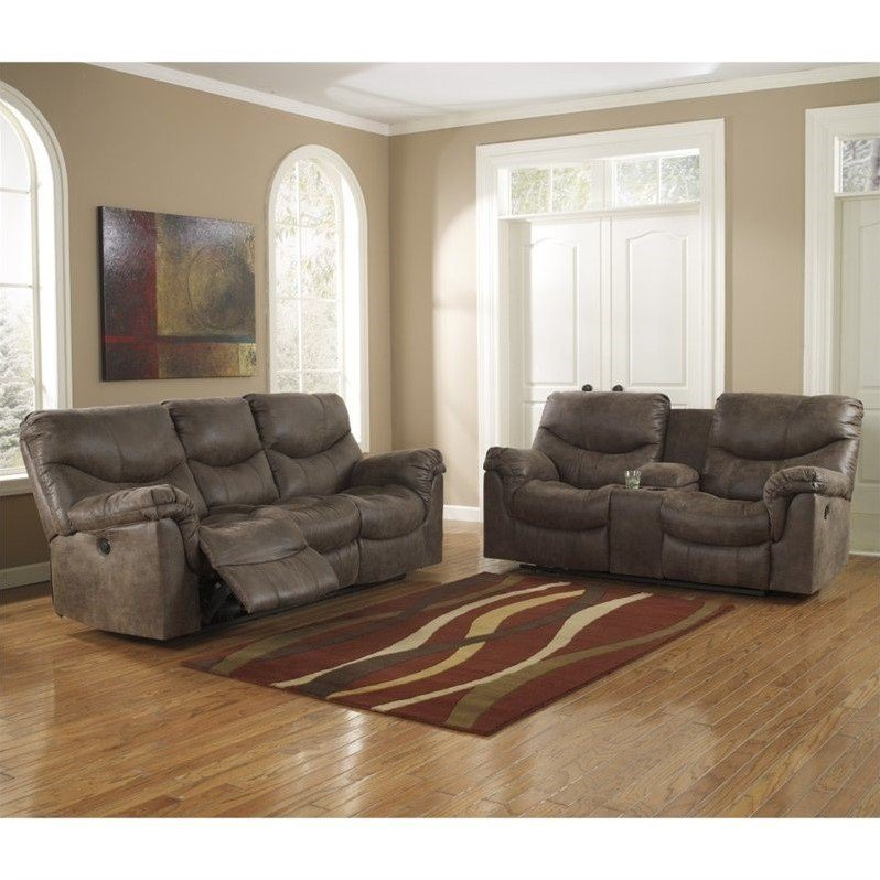Ashley Furniture Alzena 2 Piece Reclining Sofa Set In In Sofas And Chairs (View 13 of 15)