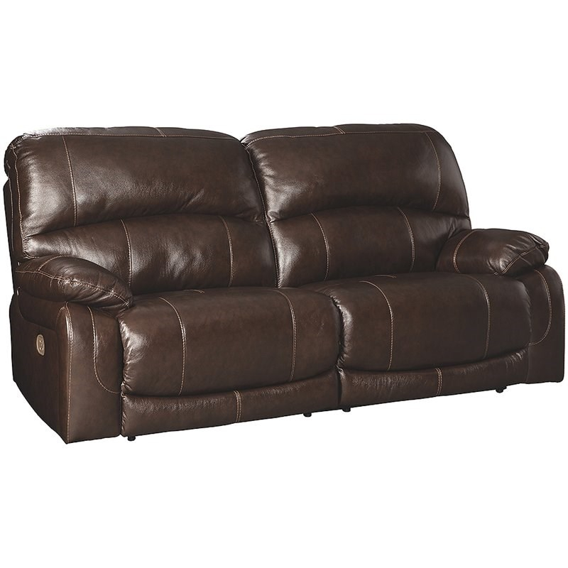 Ashley Furniture Hallstrung Leather Power Reclining Sofa For Nolan Leather Power Reclining Sofas (View 10 of 15)