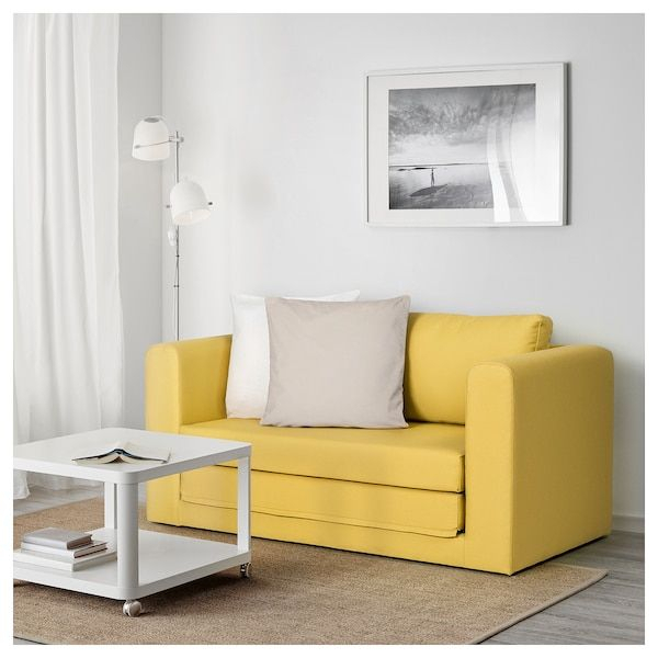 Askeby Gräsbo Golden Yellow, 2 Seat Sofa Bed – Ikea Inside Easton Small Space Sectional Futon Sofas (View 4 of 15)