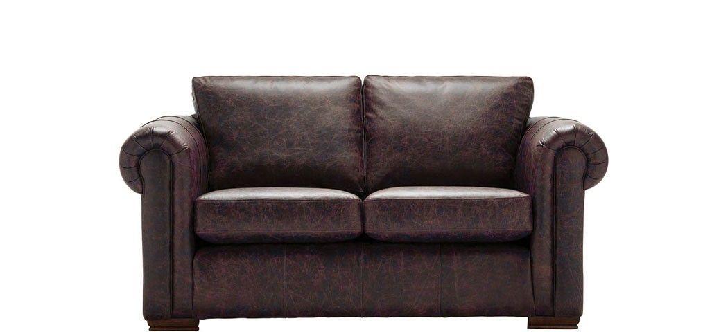 Aspen | 2 Seater Sofa | Vintage Chestnut | Leather Sofa With Regard To Aspen Leather Sofas (View 13 of 15)