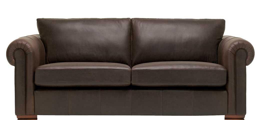 Aspen 3 Seater Leather Sofa | 3 Leather Colours | Sofasofa Throughout Aspen Leather Sofas (View 5 of 15)