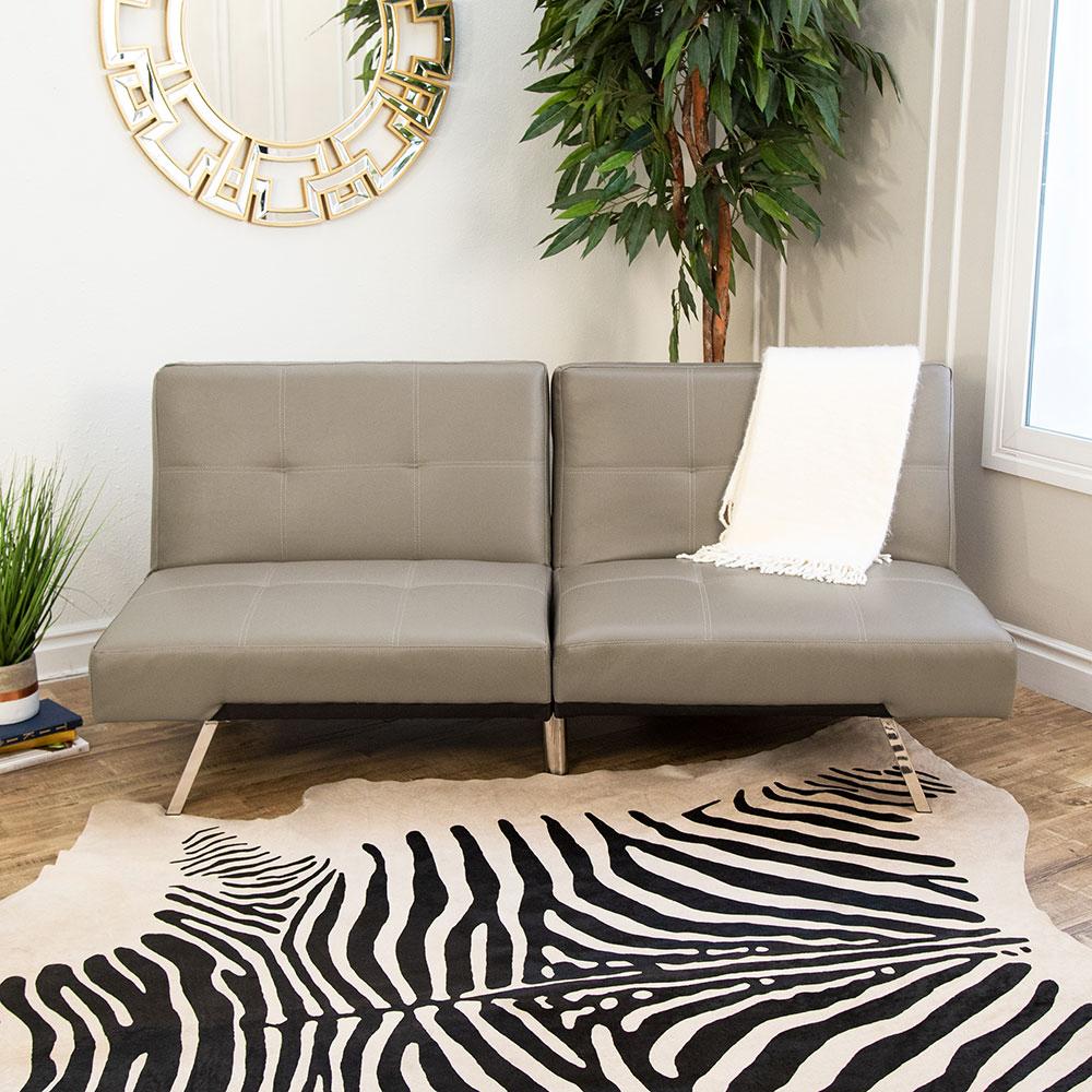 Aspen Leather Convertible Sofa  Futon  Convertible Sofa For Aspen Leather Sofas (View 10 of 15)
