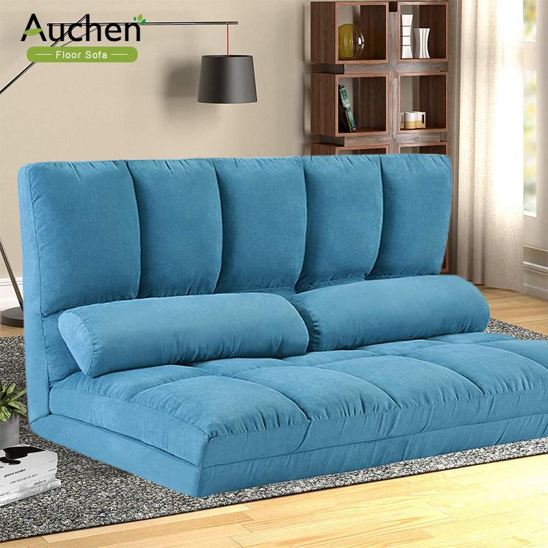 Auchen® Adjustable Futon Sofa Bed/ Folding Lounge Sofa Within Easton Small Space Sectional Futon Sofas (View 2 of 15)