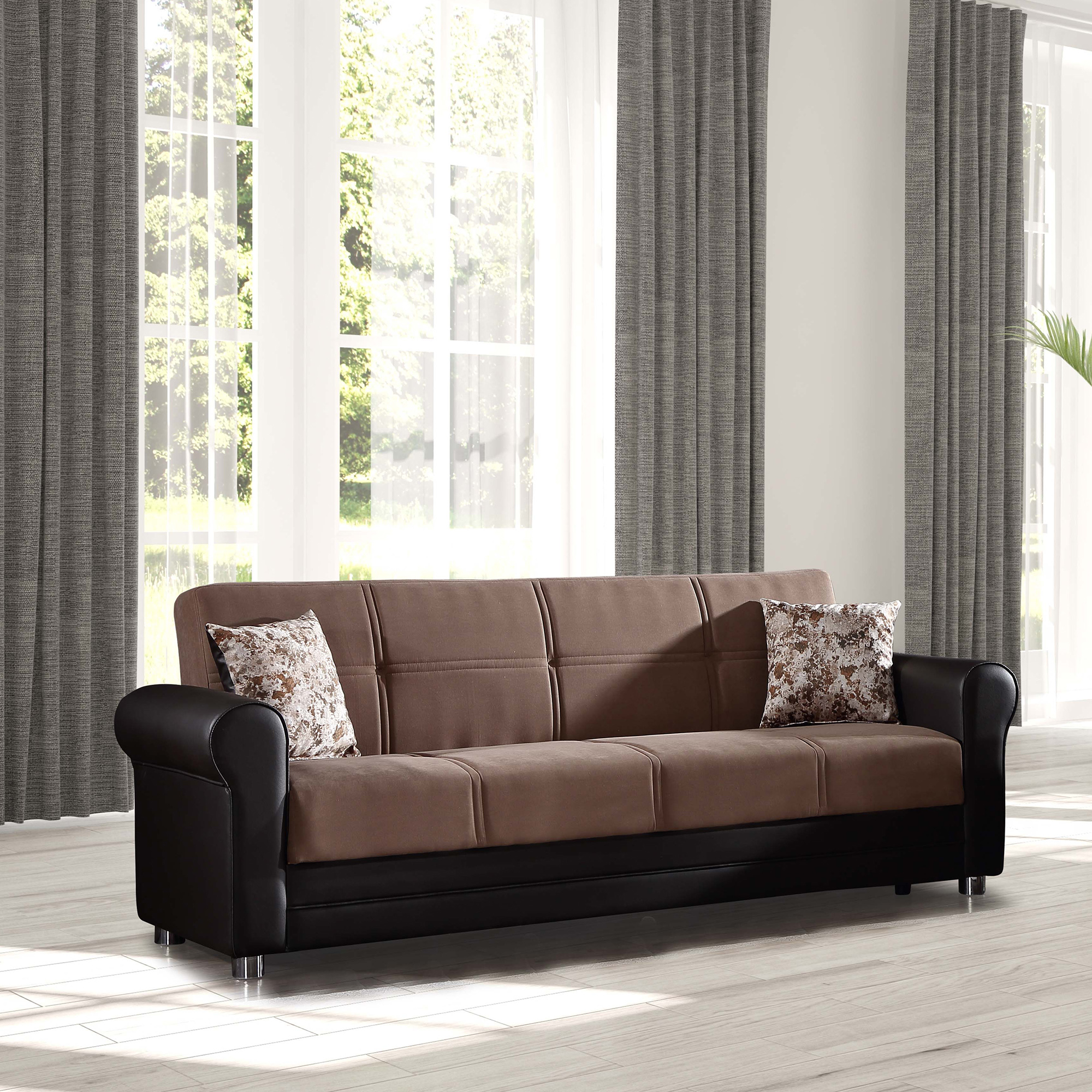 Avalon Sleeper Sofa Bed With Storage – Walmart With Regard To Lounge Sofas And Chairs (View 4 of 15)