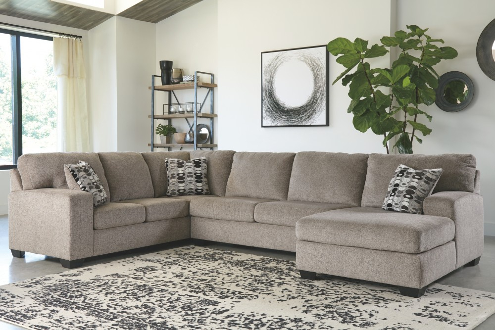 Ballinasloe – 3 Piece Sectional With Chaise   Sectionals With 3Pc Polyfiber Sectional Sofas (View 9 of 15)