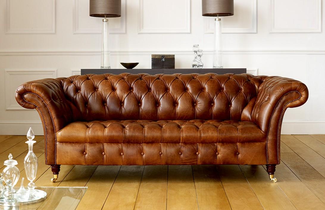 Barrington Vintage Leather Sofa | Leather Chesterfield Sofas With Vintage Chesterfield Sofas (View 5 of 15)
