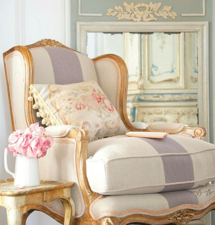 Beautiful Chair | French Blue Chairs, French Country Pertaining To Country Cottage Sofas And Chairs (View 15 of 15)