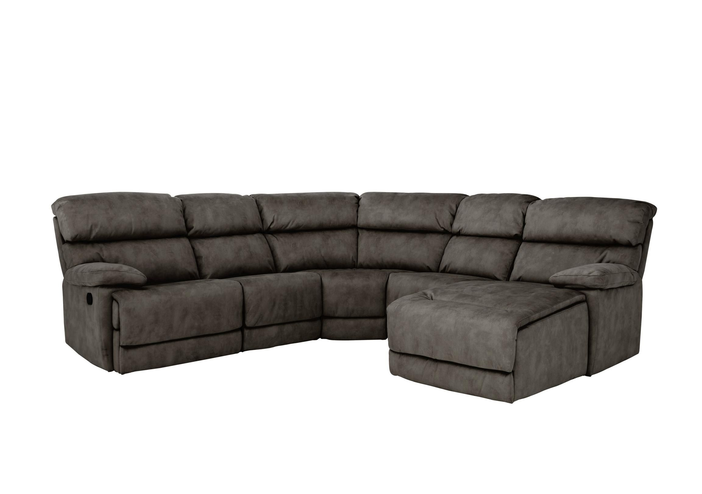 Beautifully Cushioned Fabric Corner Sofa Seats At Least 5 For Contempo Power Reclining Sofas (View 10 of 15)