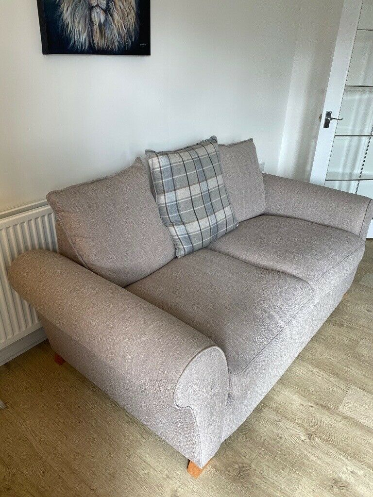 Beige Fabric Dfs Two Seater Sofa For Sale | In Spennymoor For Two Seater Sofas (View 3 of 15)