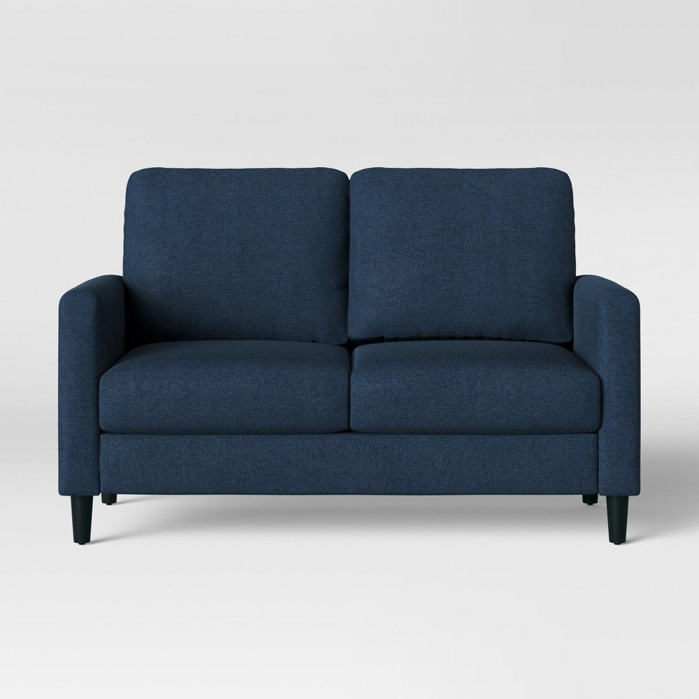 Bellingham Loveseat Dark Blue – Project 62   Love Seat In Dove Mid Century Sectional Sofas Dark Blue (View 6 of 15)