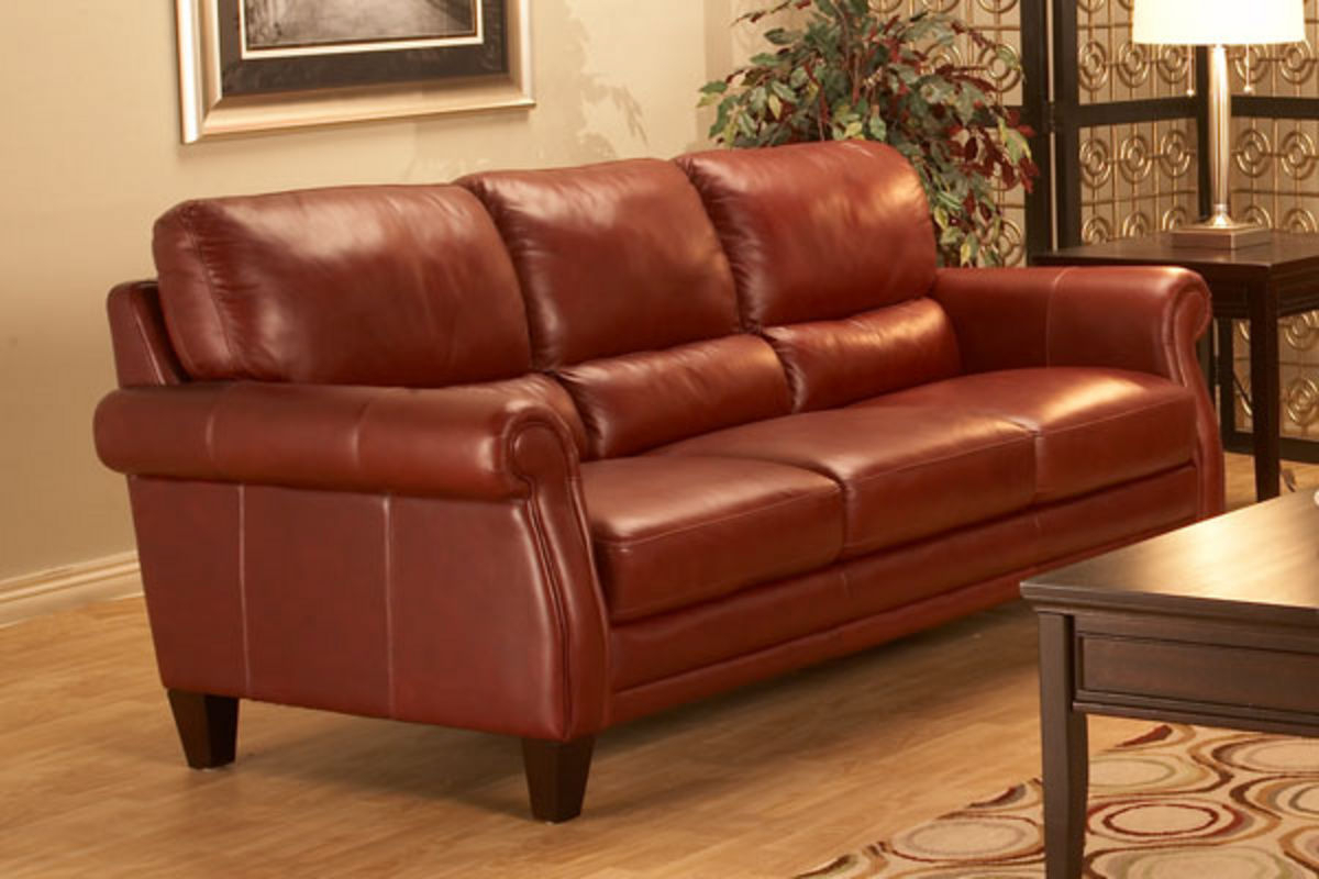 Belmont All Leather Sofa At Gardner White Within White Sofa Chairs (View 5 of 15)