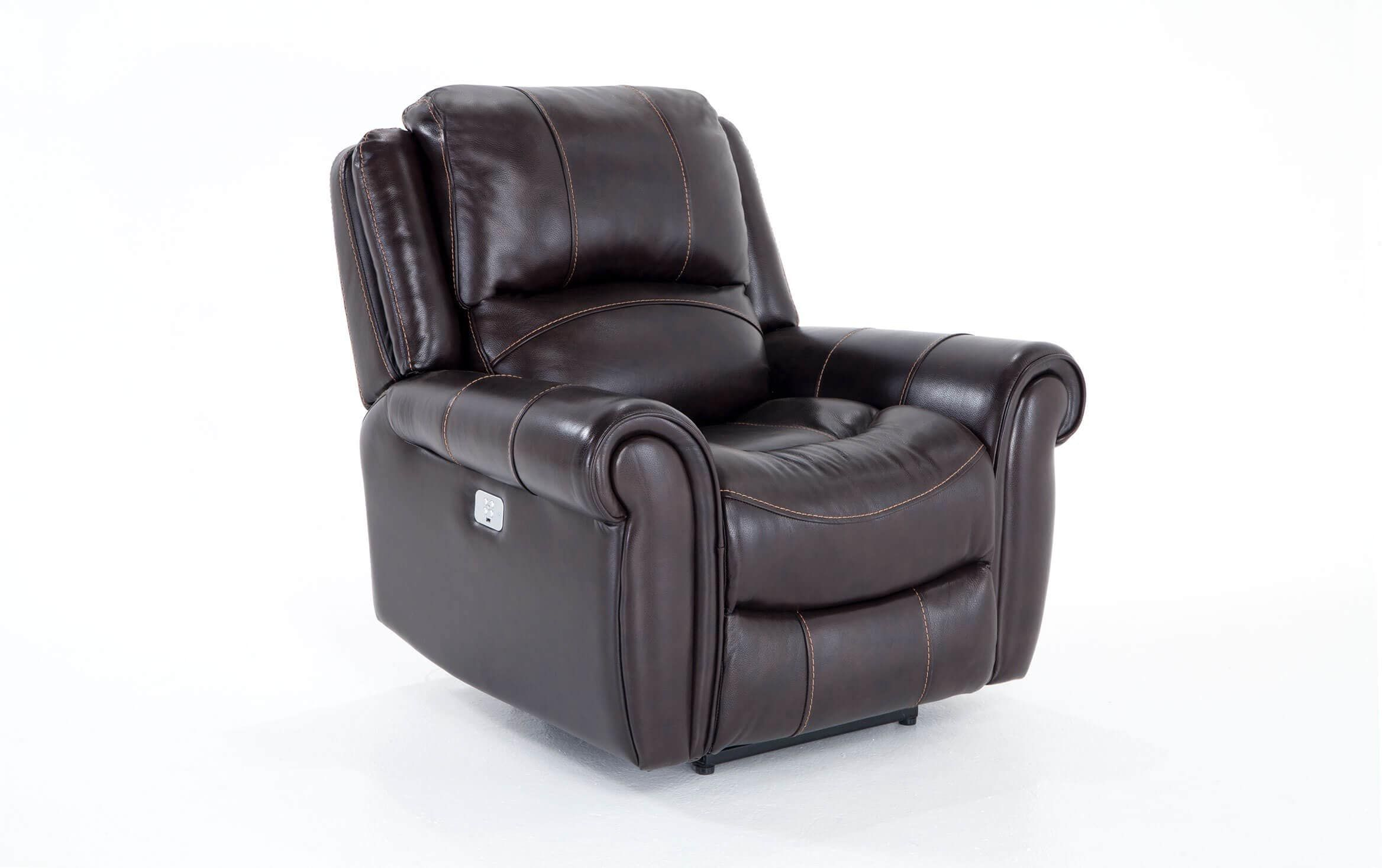 Bennett Leather Power Recliner In 2020 | Power Recliners With Regard To Bennett Power Reclining Sofas (View 6 of 15)