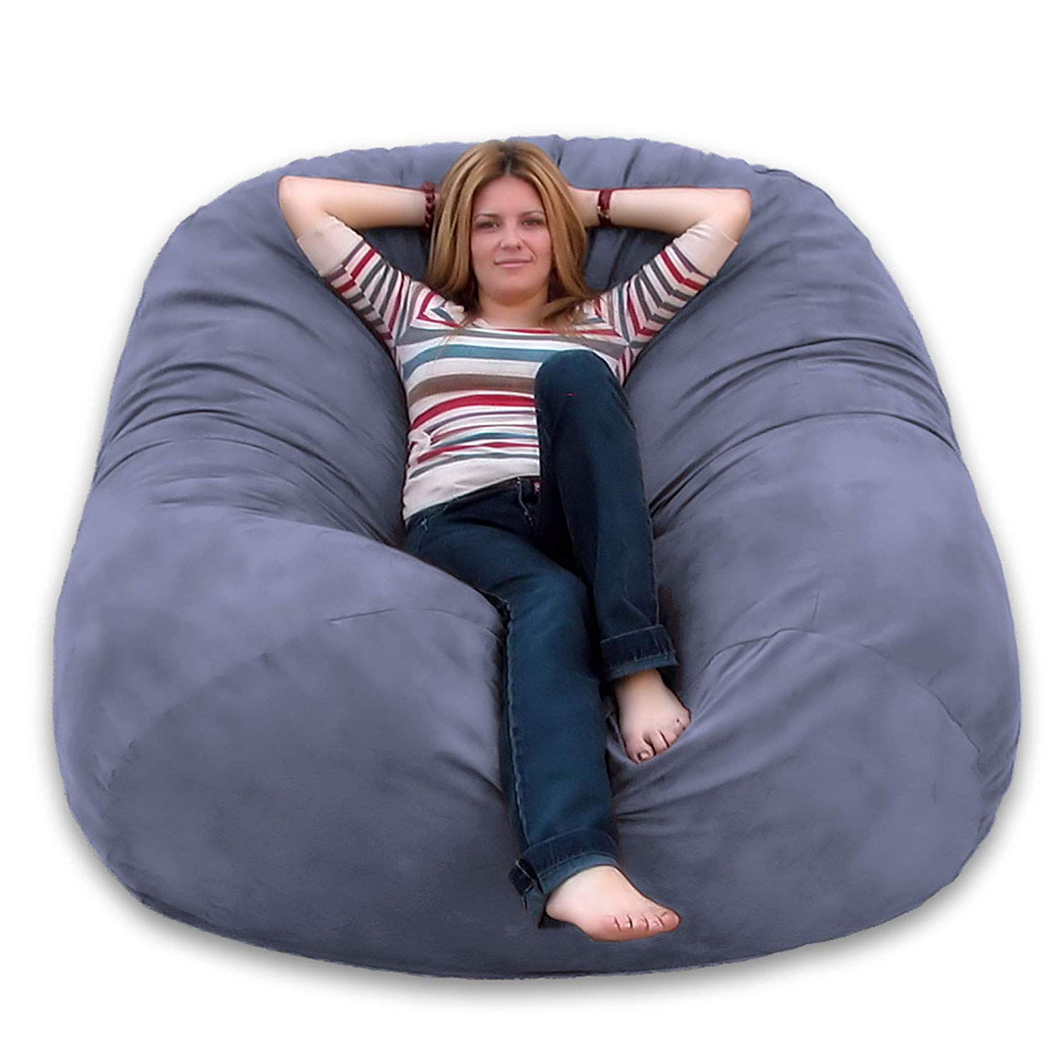 Best Bean Bag Chairs For Adults In 2021 – The Double Check With Bean Bag Sofas And Chairs (Photo 4 of 15)