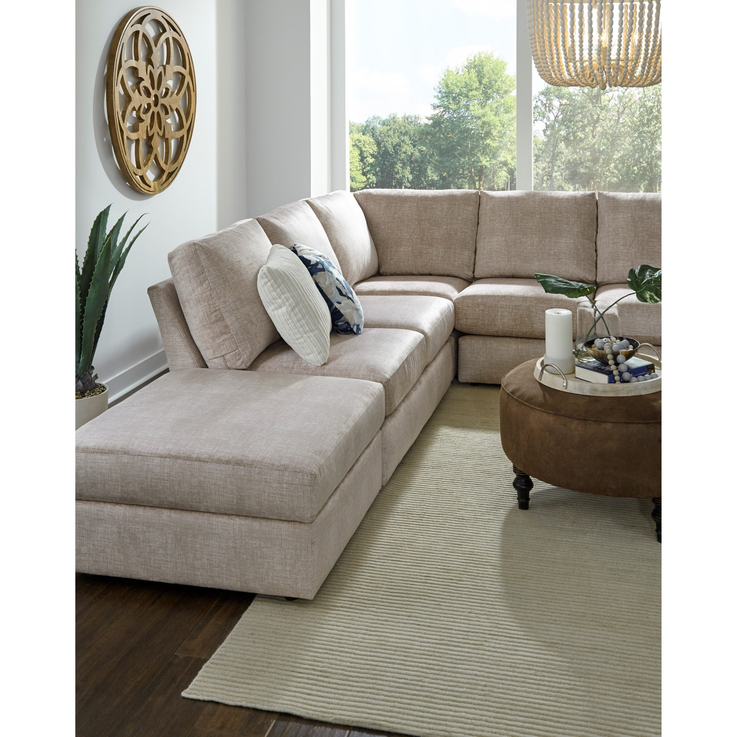 Best Home Furnishings Dovely Five Seat Sectional Sofa With Intended For Copenhagen Reversible Small Space Sectional Sofas With Storage (View 1 of 15)