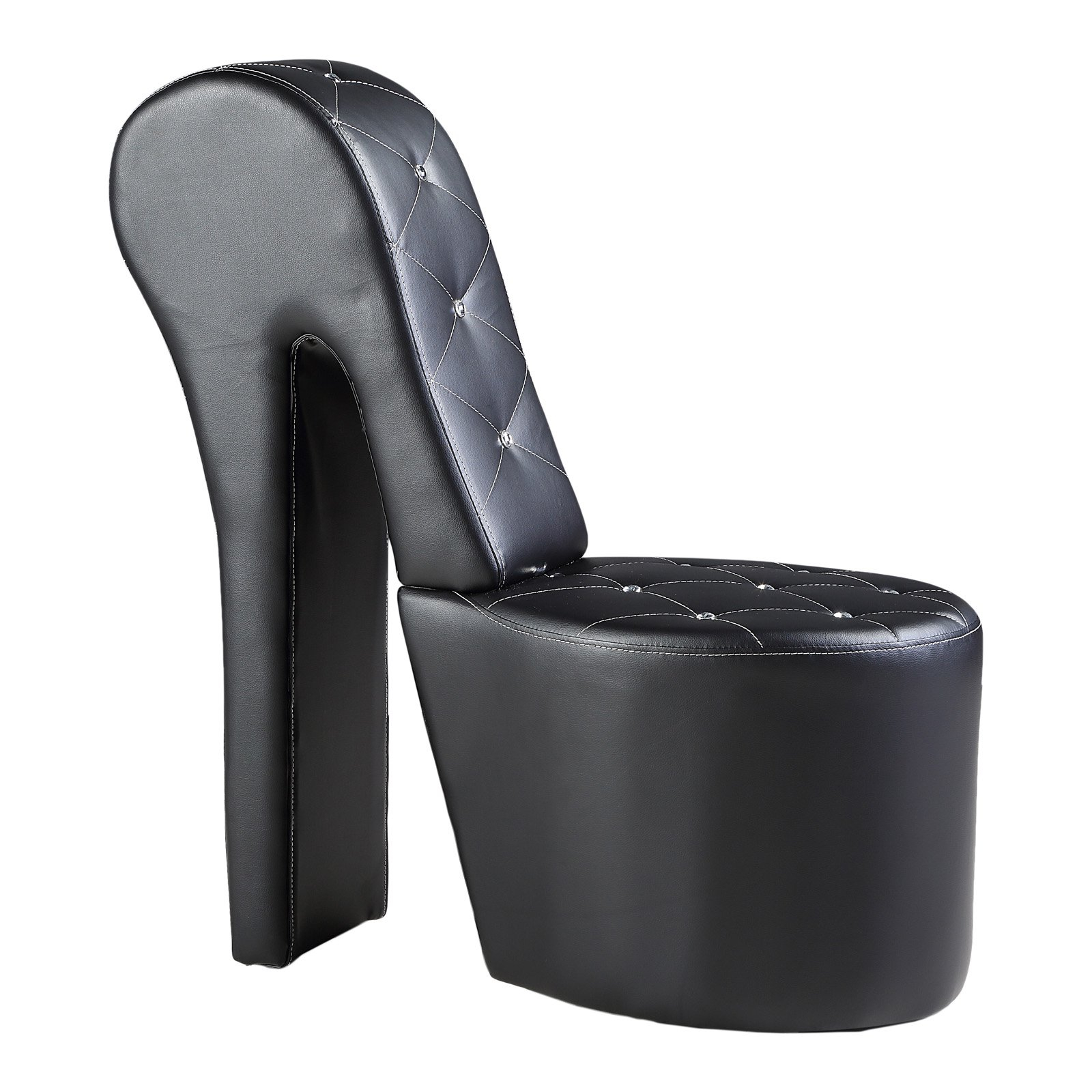Best Master Furniture High Heel Faux Leather Shoe Chair In Heel Chair Sofas (View 1 of 15)