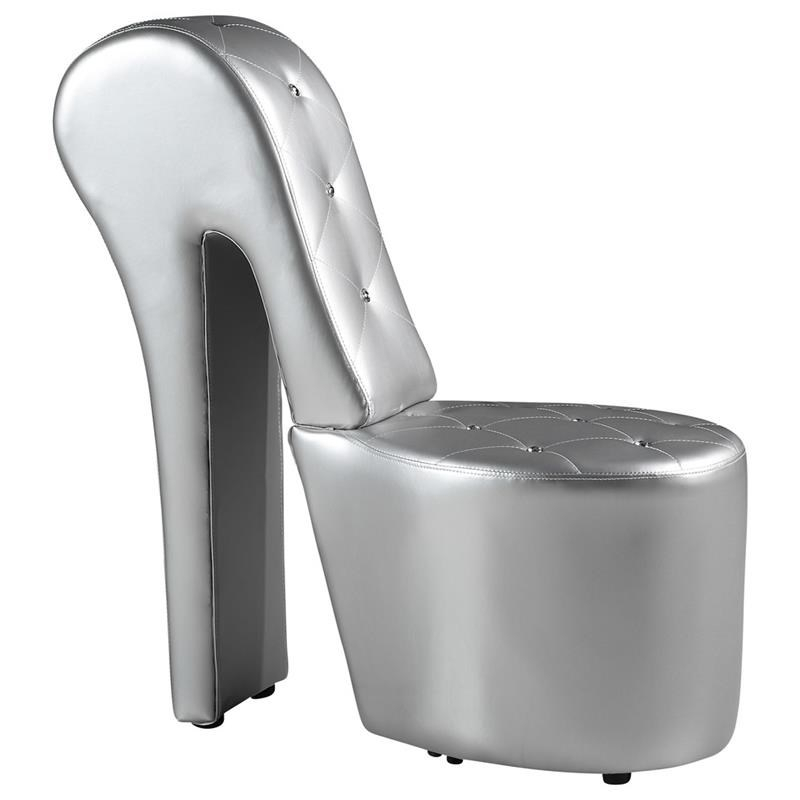 Best Master High Heel Faux Leather Crystal Studs Shoe With Regard To Heel Chair Sofas (View 2 of 15)
