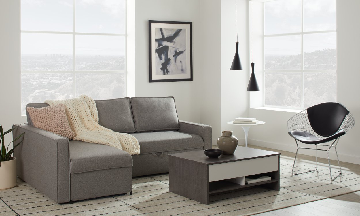 Best Sleeper Sectional Sofa For Small Spaces 2020 In Palisades Reversible Small Space Sectional Sofas With Storage (View 7 of 15)