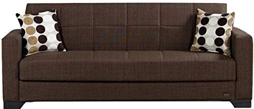 Beyan Sb 2019 Brown Vermont Modern Chenille Fabric Intended For Hugo Chenille Upholstered Storage Sectional Futon Sofas (View 13 of 15)