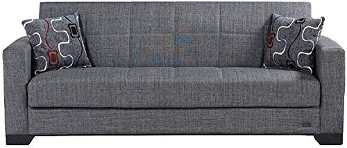 Beyan Sb 2019 Smoke Vermont Modern Chenille Fabric With Regard To Hugo Chenille Upholstered Storage Sectional Futon Sofas (View 9 of 15)