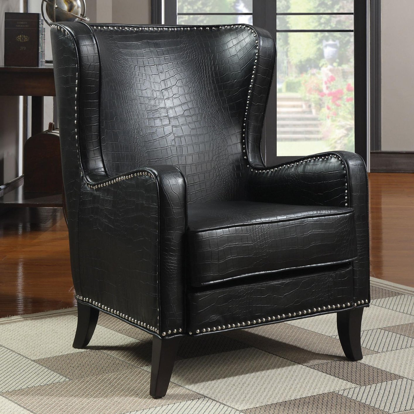 Black Leather Accent Chair – Steal A Sofa Furniture Outlet Intended For Sofa Arm Chairs (View 10 of 15)