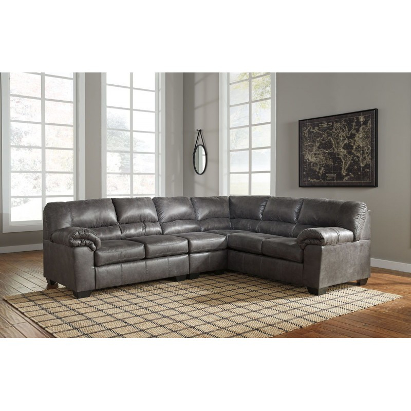 Bladen – Slate – Laf Loveseat, Armless Chair & Raf Sofa Within Armless Sectional Sofas (View 8 of 15)