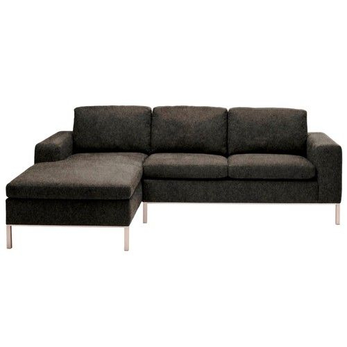 Blu Dot Standard Sectional, Right/Stone   Sectional Sofa With Dulce Right Sectional Sofas Twill Stone (View 9 of 15)