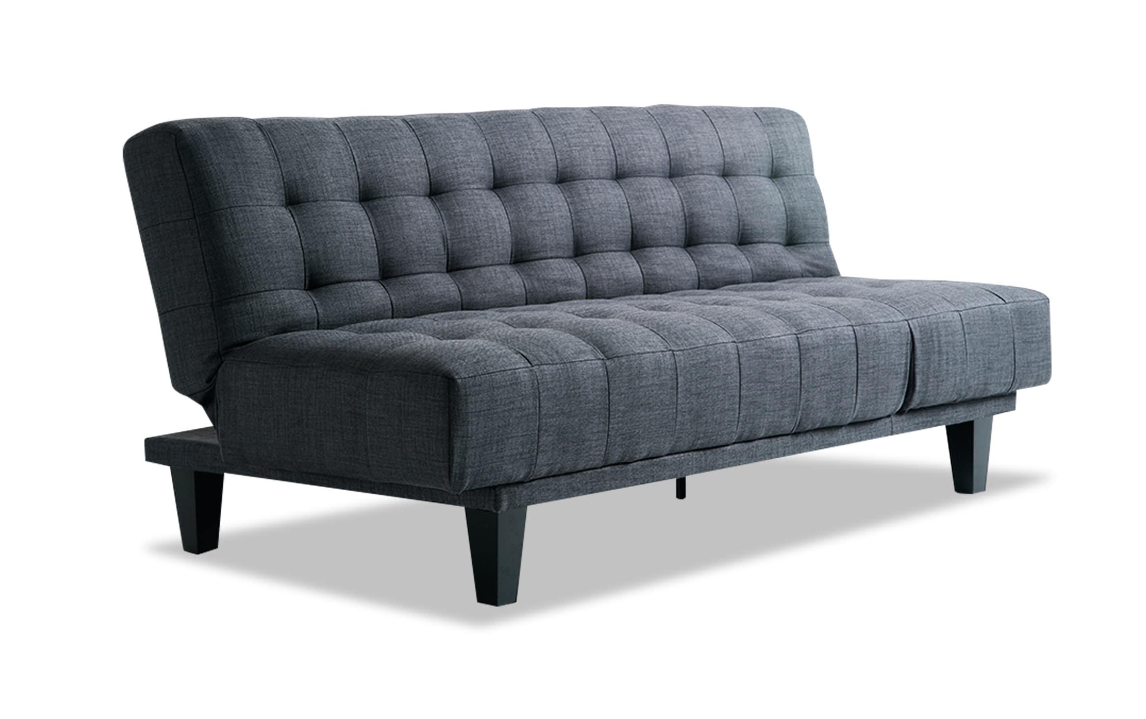 Bobs Furniture Futon Bed Throughout Antonio Light Gray Leather Sofas (View 9 of 15)