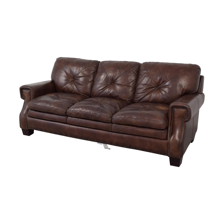 Bobs Furniture Leather Sofa : Trailblazer Gray Leather Throughout Trailblazer Gray Leather Power Reclining Sofas (View 5 of 15)