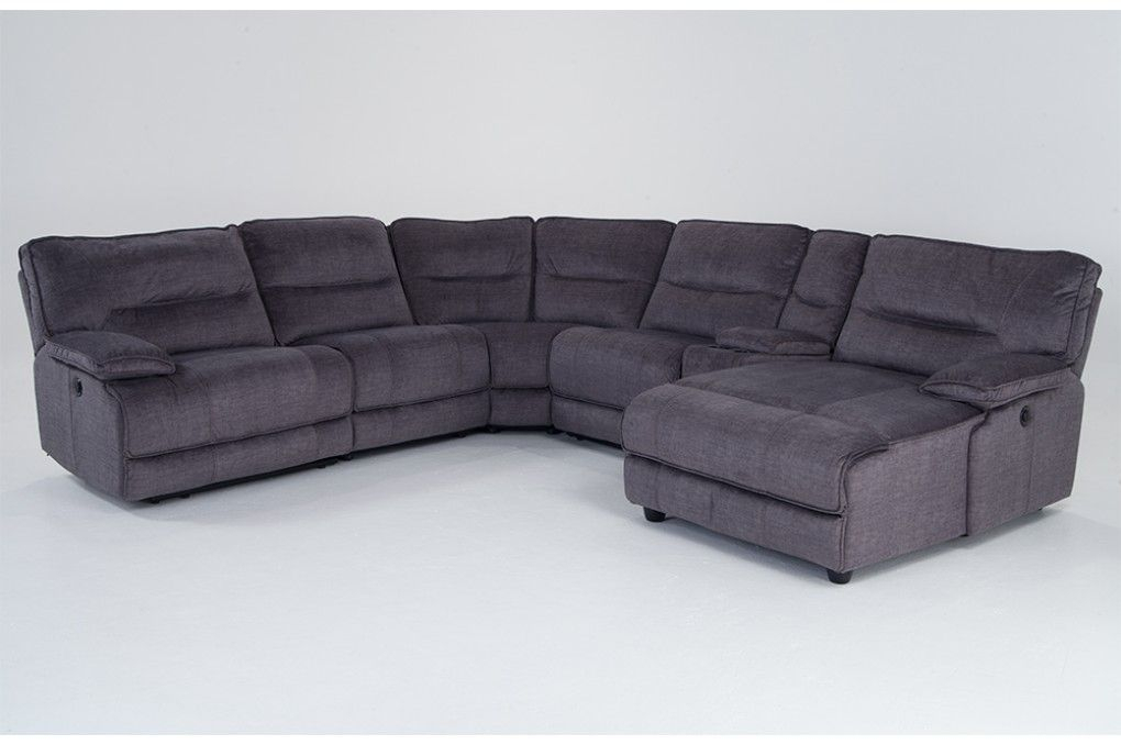 Bob'S Furniture   Reclining Sectional With Chaise, Power Pertaining To Pacifica Gray Power Reclining Sofas (View 10 of 15)