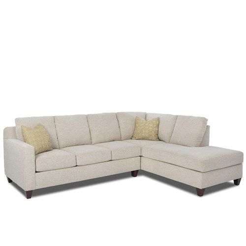 Bosco Contemporary 2 Piece Sectional With Right Arm Facing Intended For 2Pc Burland Contemporary Chaise Sectional Sofas (View 3 of 15)