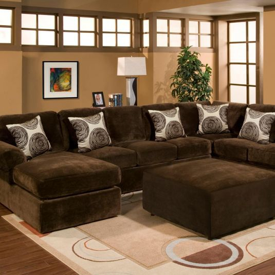 Bradley Sectional Sofa Displaying Photos Of Comfortable In 2Pc Luxurious And Plush Corduroy Sectional Sofas Brown (View 14 of 15)