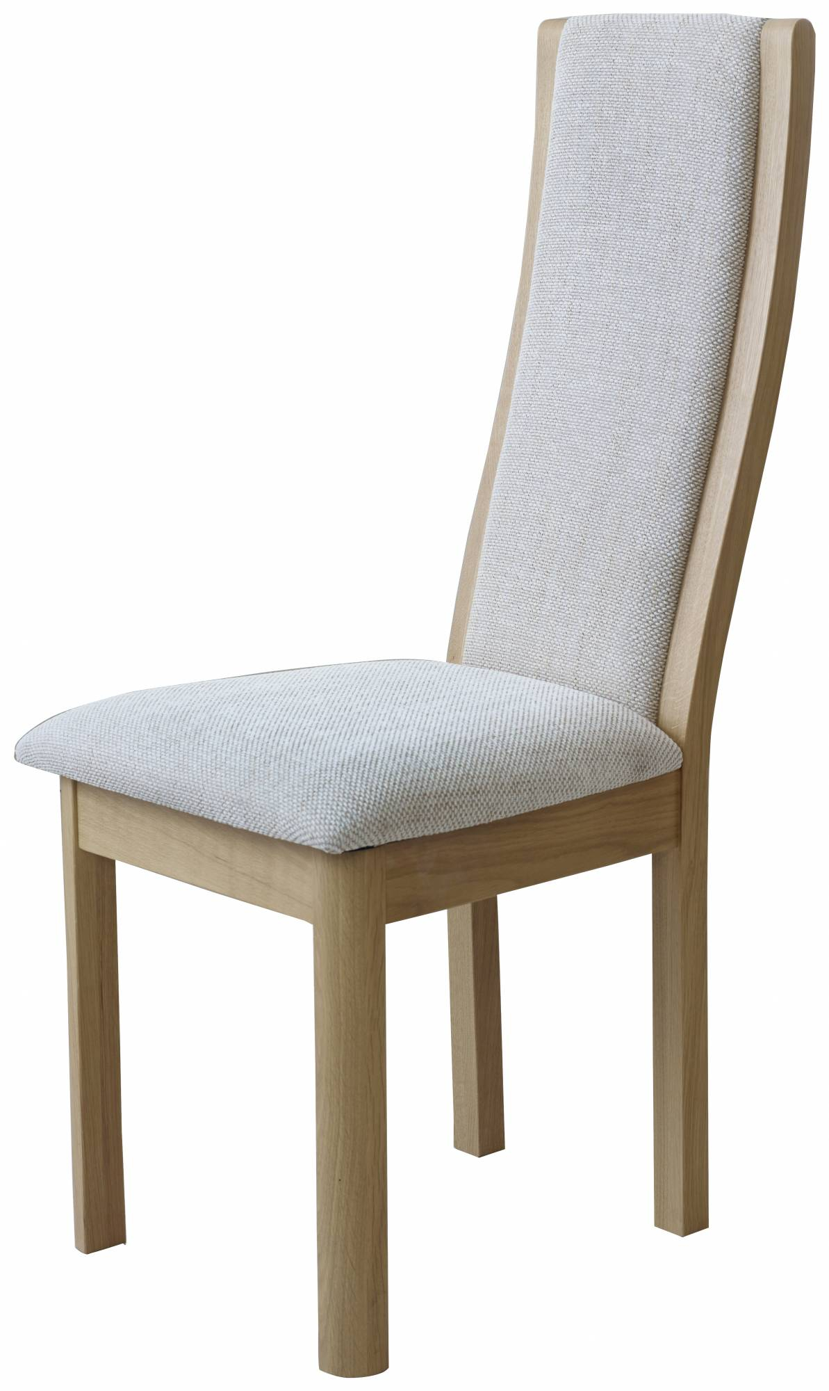 Braemer Dining Collection High Back Chair Beige Fabric Regarding High Back Sofas And Chairs (View 7 of 15)
