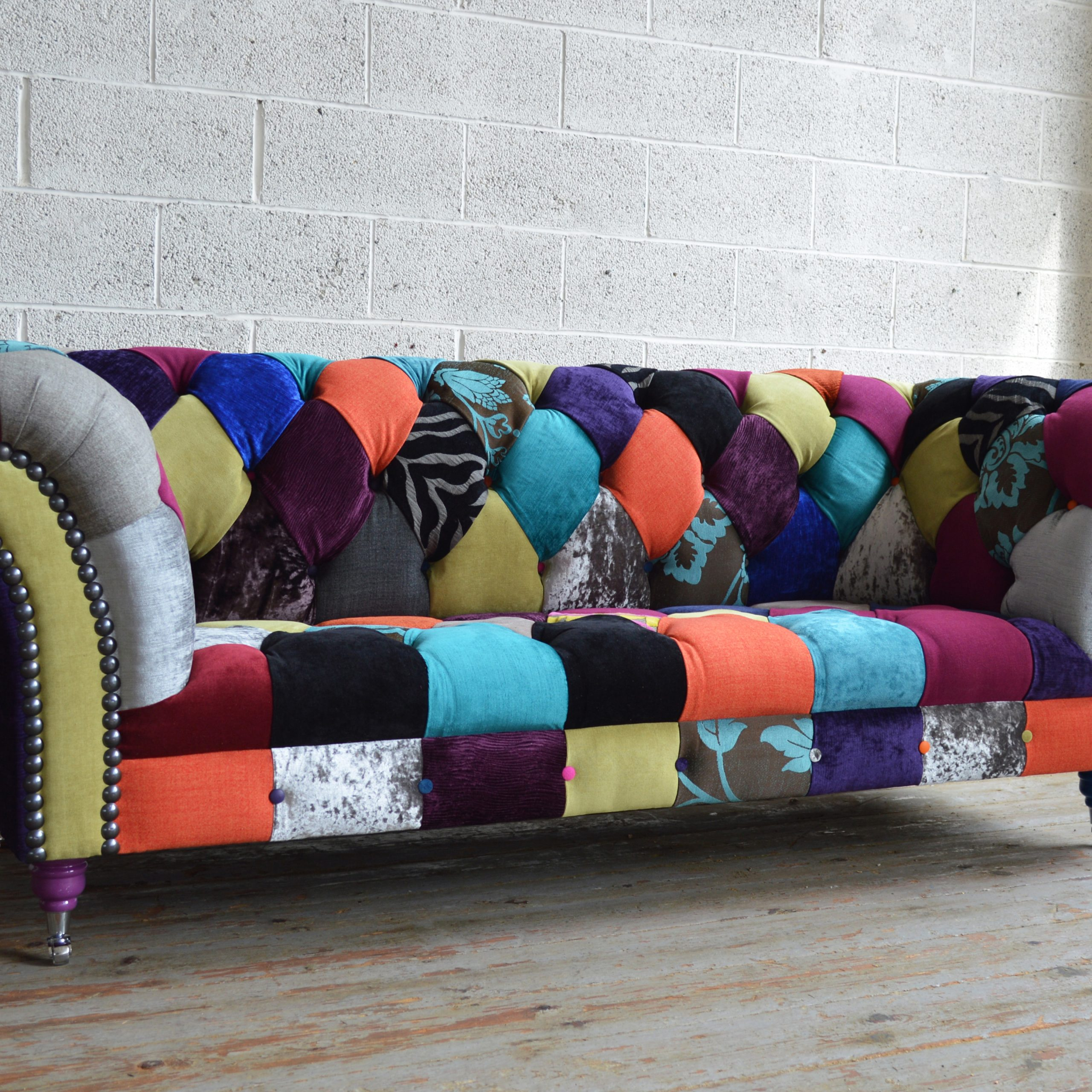 Brighton Patchwork Chesterfield Sofa | Abode Sofas With Chesterfield Sofas (View 15 of 15)
