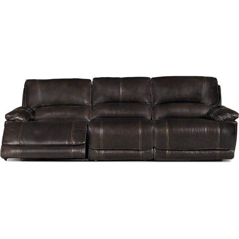 Brown 3 Piece Manual Triple Reclining Sofa – Brant Within Charleston Triple Power Reclining Sofas (View 13 of 15)