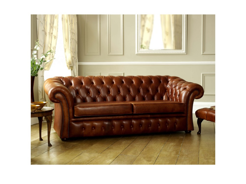 Brown Leather Chesterfield Sofa | Pemberton | English Sofa Intended For Leather Chesterfield Sofas (View 13 of 15)