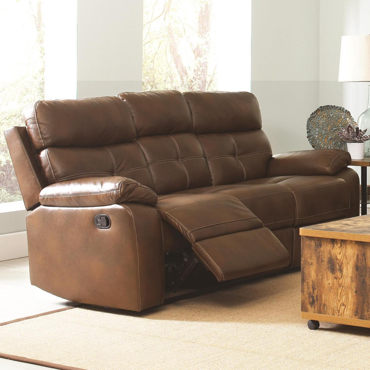 Brown Leather Reclining Sofa – Steal A Sofa Furniture For Brown Sofa Chairs (View 2 of 15)