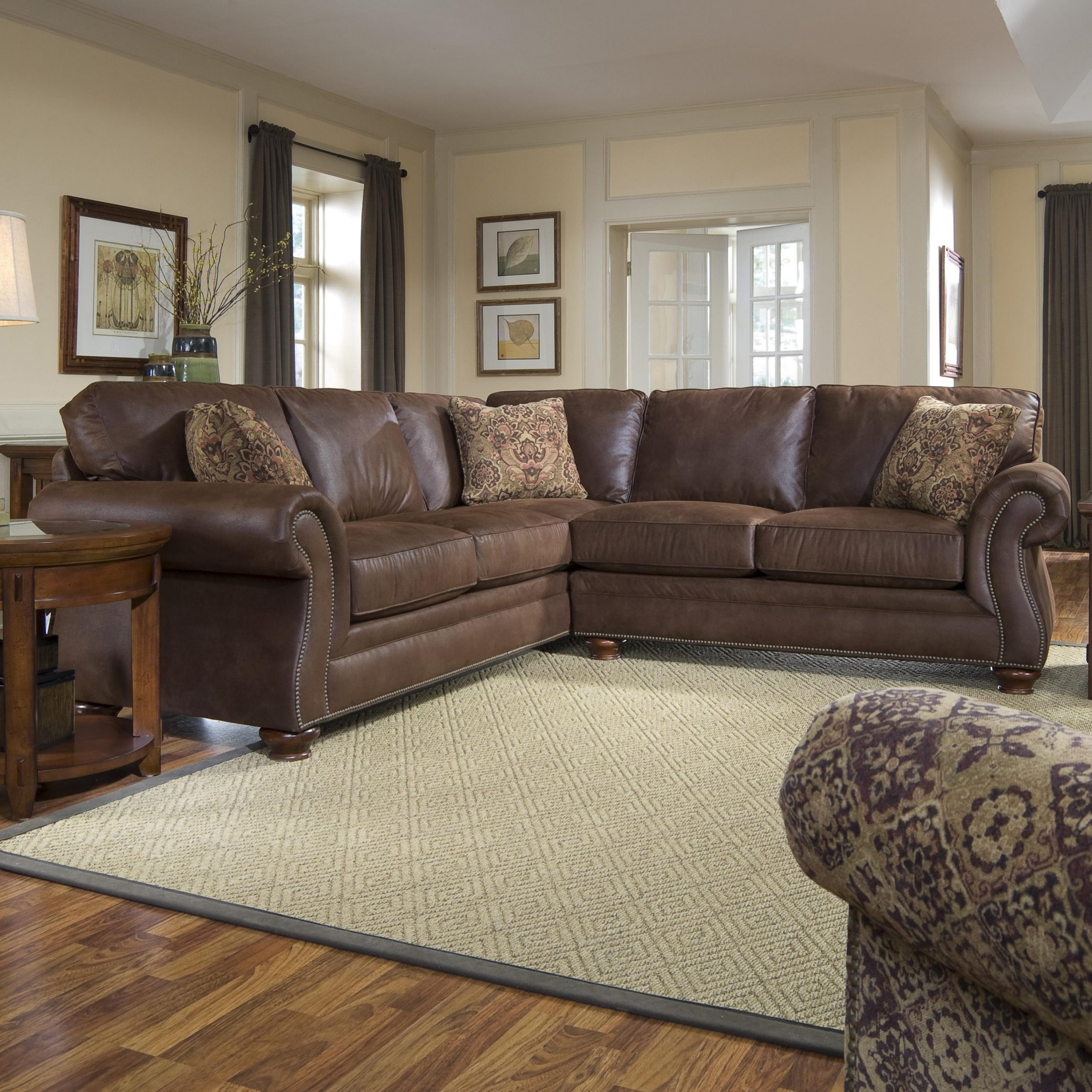 Broyhill Laramie Sofa Laramie Brown Ottoman Gallery Intended For Broyhill Sectional Sofas (View 1 of 15)