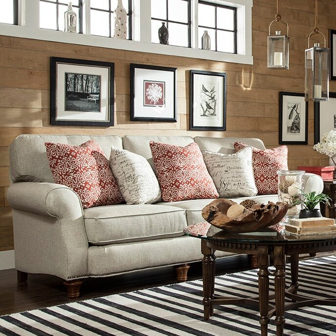 Broyhill® Whitfield Sofa & Reviews | Wayfair Regarding Country Cottage Sofas And Chairs (View 1 of 15)