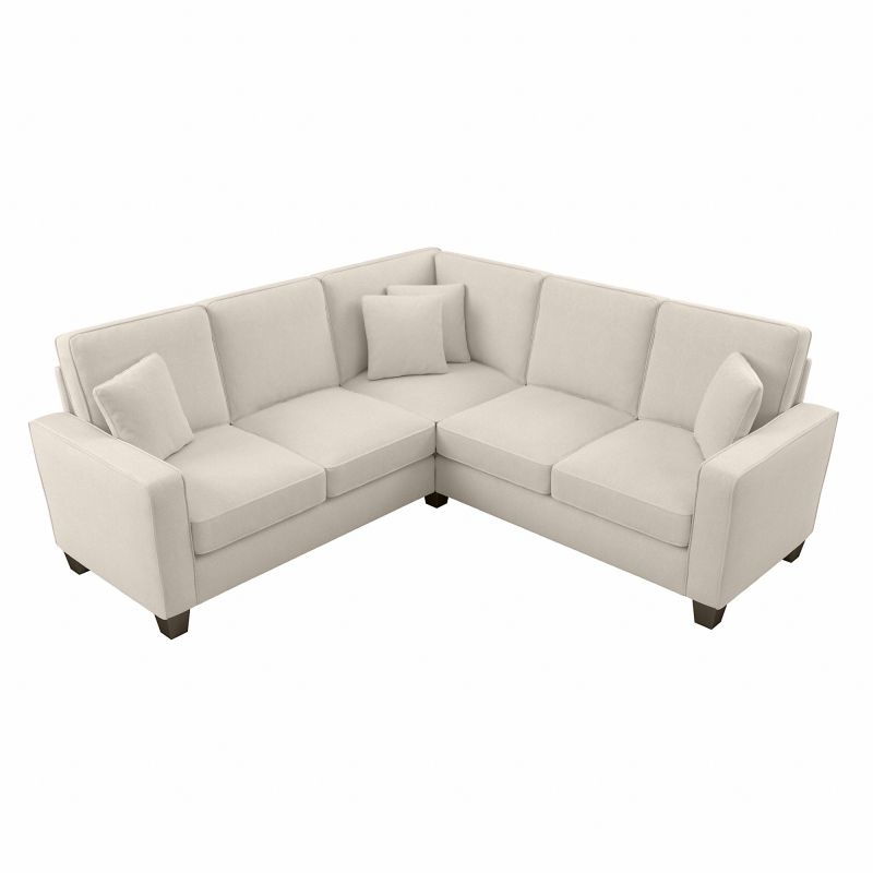 """Bush Furniture Stockton 98W L Shaped Sectional Couch In Intended For 130"""" Stockton Sectional Couches With Double Chaise Lounge Herringbone Fabric (View 8 of 15)"""